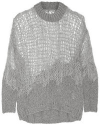 Open knit wool blend sweater medium 97566