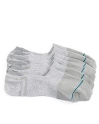 Grey No Show Socks