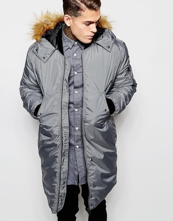 super specials exclusive range discount £112, Asos Brand Bomber Parka Jacket 2 In 1 With Removable Hood