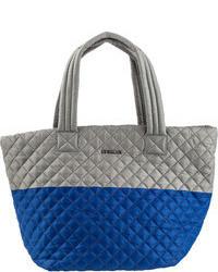 Grey Nylon Tote Bag