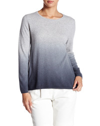 Grey Ombre Crew-neck Sweater