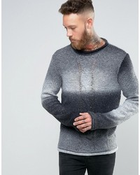 Asos Ombre Knit Sweater With Cable
