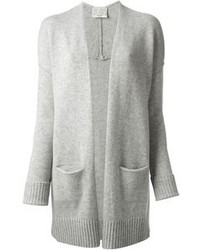 Grey Open Cardigan
