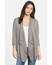 Caslon Linen Cotton Open Front Cardigan