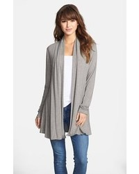 Kische Open Front Cardigan Heather Grey Melange Small
