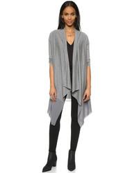 DKNY Pure Long Sleeve Draped Front Cardigan