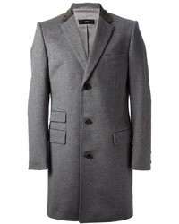 Hugo Boss Boss Contrast Collar Overcoat
