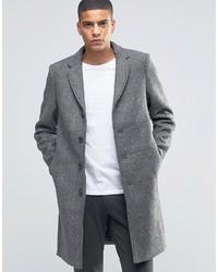 Selected Homme Herringbone Overcoat