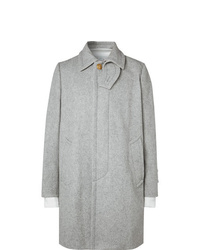 Sacai Layered Melton Wool Blend Coat