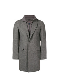 Herno Layered Single Breasted Coat