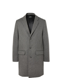 A.P.C. Manteau Mlange Wool Blend Overcoat