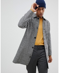 MOSS BROS Moss London Mac In Puppytooth Grey