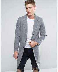 Overcoat in gray wool medium 966978