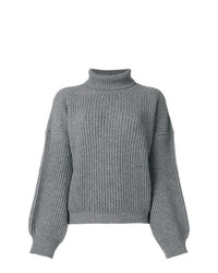 Fine Edge Ribbed Roll Neck Sweater
