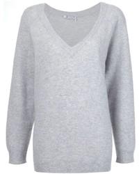 T by oversized v neck jumper medium 718170