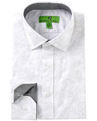 Grey Paisley Dress Shirt