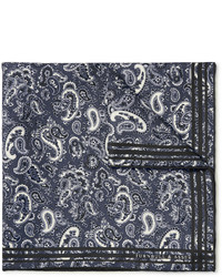 Paisley print silk twill pocket square medium 717429