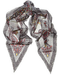Kate Moss For Topshop Paisley Print Chiffon Scarf