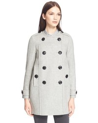 Brit brit antwood double breasted collarless coat medium 372797