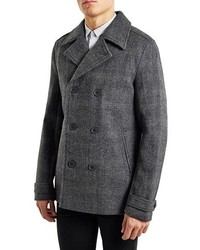 Glen plaid wool blend peacoat medium 354578