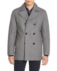 Wool blend double breasted peacoat medium 350585