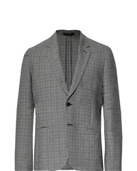 Paul Smith Black Soho Slim Fit Prince Of Wales Checked Stretch Cotton Seersucker Suit Jacket