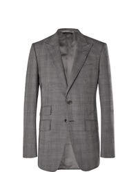 Tom Ford Grey Oconnor Slim Fit Prince Of Wales Checked Wool Suit Jacket