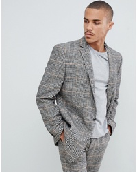 ASOS DESIGN Oversized Suit Jacket In Black And White Check