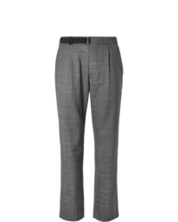 Maison Margiela Pleated Checked Virgin Wool Trousers