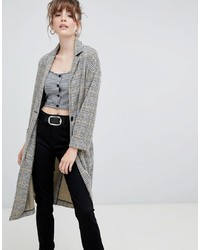 New Look Check Textured Duster Coat Pattern