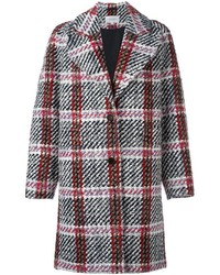 Carven Plaid Single Breasted Coat