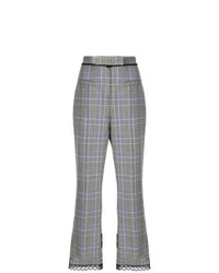 MSGM Bootcut Check Trousers
