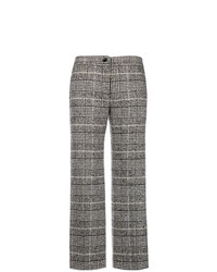 Blugirl Cropped Plaid Trousers