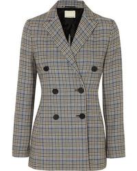 By Malene Birger Checked Cotton Blend Blazer