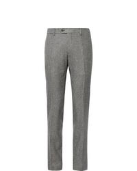 Lardini Slim Fit Puppytooth Wool Suit Trousers