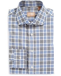 Gitman tailored fit plaid dress shirt medium 115554