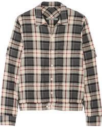 Plaid cotton blend flannel shirt medium 80559