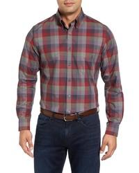 Lux regular fit plaid sport shirt medium 834252