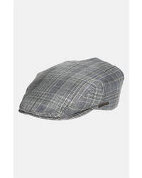 Stetson Tropical Driving Cap Navy Plaid Large