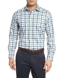 Regular fit plaid sport shirt medium 1247627