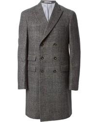 Michael Bastian Michl Bastian Check Pattern Double Breasted Coat