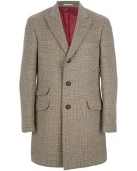 Brunello Cucinelli Plaid Overcoat