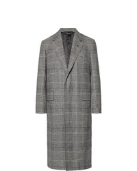 Dunhill Prince Of Wales Checked Wool And Cashmere Blend Coat