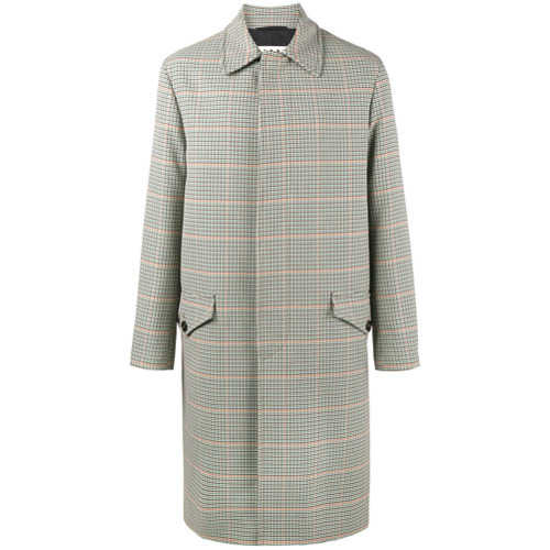 Marni Single Breasted Check Coat