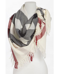 Check merino wool scarf medium 215764