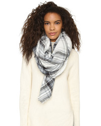 Spun Scarves By Subtle Luxury Forever Plaid Blanket Wrap Scarf