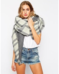 Asos Collection Oversized Reversible Check Scarf
