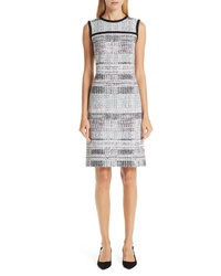 Grey Plaid Sheath Dress