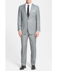 Hickey Freeman Beacon Classic Fit Plaid Suit