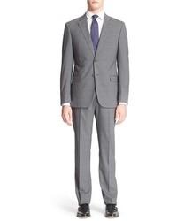 G line trim fit plaid wool suit medium 403386